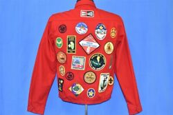 Vtg 70s Boy Scouts Of America Uniform Red Jacket Patches High Adventure Youth Xl