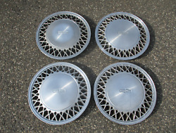 Genuine 1988 Lincoln Town Car Factory 15 Inch Hubcaps Wheel Covers E8vy1130a