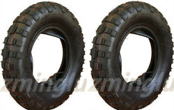Two 3.50 - 8 Tires And Tubes For Honda Z50r Z50rd 3.50x8