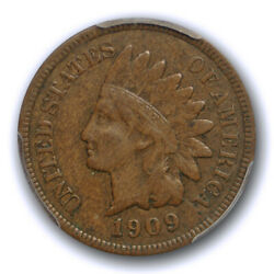 1909 S 1c Indian Head Cent Pcgs Vf 30 Very Fine To Extra Fine Key Date Us Coi...