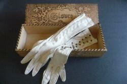 Antique Small Kid Leather Gloves With Glove Box