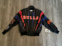 Brand New W/ Tags Chicago Bulls Jeff Hamilton 3peat Repeat Leather Jacket Size M