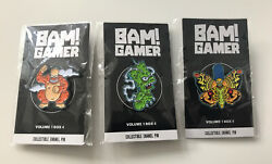 Bam Box Complete Set Simpsons Marge Homer Bart Pin Badges Limited Exclusive 1ups