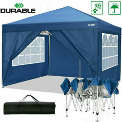 10and039x10and039 Pop Up Canopy Wedding Party Tent Folding Gazebo W/ 4 Removable Sidewalls