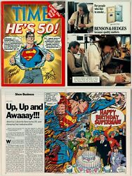 Time Magazine Superman He's 50 March 14 1988 Signed John Byrne Jerry Ordway Art