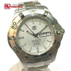 Tag Heuer Waf2011 Aquaracer Day-date Caliper Menand039s Watches Ss Mens Automatic