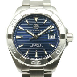 Price Used/pawn Shop Tag Heuer Aquaracer Caliber Way2112 Mens Automatic Ss Blue