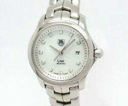 Green Shop Pawn Tag Heuer Link Women's Size Shell Dial Wjf1317 Secondhand