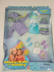 Mary Kate and Ashley Doll Beach Fun Outfits #26562 Mattel 1999 Original Package $24.95