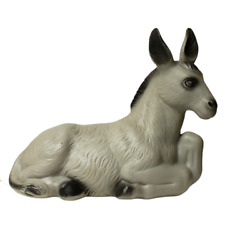 Vintage Blow Mold Donkey Poloron Products Inc Outdoor Christmas Nativity 17.5