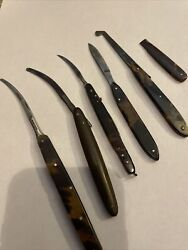 Civil War Era Medical Instruments Tortoise Shell Made 4 In Tact Used 2 Damaged