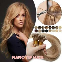 Us Thick 1g Nano Ring Tip Remy Human Hair Extension Pre Bonded Highlight Caramel