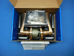 New Schlage Accents Gold Satin Bronze Bed And Bath Lever Set Fa40 Chp612