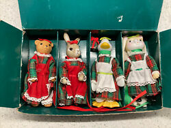 Porcelain Animal Dolls Holiday Clothing By Allied Stores Sold At Garfinkels