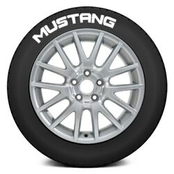Tire Stickers Mstng-1416-125-4-w White Mustang Tire Lettering Kit