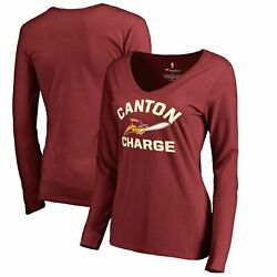 Canton Charge Fanatics Branded Womenand039s Overtime Long Sleeve V-neck T-shirt -