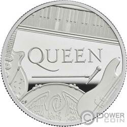 Queen Music Legends 5 Oz Silver Coin 10 Pounds United Kingdom 2020