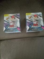 2 2021 Topps Finest Baseball Factory Sealed Hobby Boxes Free Shipping