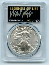 2021 P 1 Silver Eagle Emergency T1 Pcgs Psa Ms70 Legends Of Life Wade Boggs