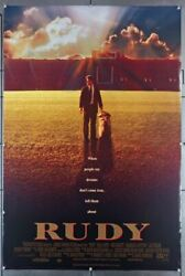 Rudy 1993 7018 Movie Poster Rolled Double Sided Sean Astin  Ned Beatty