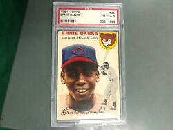 Ernie Banks 1954 Topps Rookie Card Rc 94 Psa 4 Vg-ex Chicago Cubs T10