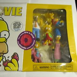 The Simpsons Movie Dvd 2 Pack Family Figurines 2007 New Sealed Bart Homer Marge