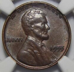 1955 Doubled Die Obverse Ddo Ngc Au55bn Lincoln Wheat Cent