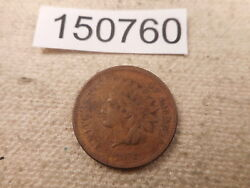 1872 Indian Head Cent Better Date Lower Mintage Collector Album Coin - 150760