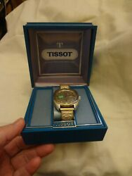 Rare Special Order Tissot Swiss Automatic Seastar Day Date Menand039s Watch And Box
