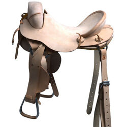 C-z-17 17 Hilason Classic Series Hand-made Rodeo Bronc American Leather Saddle