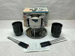 Revere Ware Stainless Steel 17 Piece Fondue Set - New Open Box Never Used