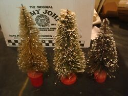 Vintage O Scale Lionel Marx Set Of 3 Trees Tallest 9 Inches