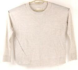 Zadig And Voltaire Womens Sweater 100 Merino Wool Crochet Accents Size Medium