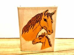 New Horses Wood Mounted Rubber Stamp D501 RS