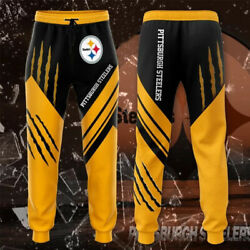 Pittsburgh Steelers Casual Joggers Sweatpants Pants Bottoms Gym Jogging Trousers