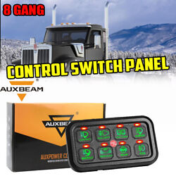 Auxbeam 8 Gang On-off Control Switch Panel Green Fit Kenworth Heavy Duty Truck