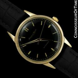 1958 Vintage Mens Full Size Cal. 852 18k Gold Watch - Mint With Warranty