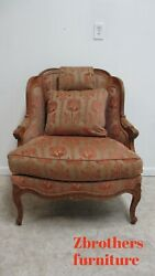 Stickley Furniture French Carved Living Room Lounge Arm Chair Regency