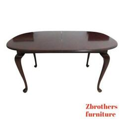 Ethan Allen Georgian Court Cherry Dining Room Banquet Conference Table Zz