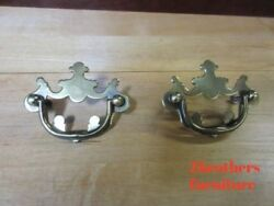 2 Drexel Brass Chippendale End Table Night Stand Hardware Handles Pulls Knobs A