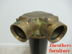 Large Vintage Brass Fire Hydrant Splitter Hose Water Thief