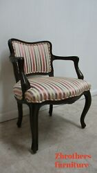 Vintage 1950s Baker Furniture French Living Room Arm Lounge Chair B