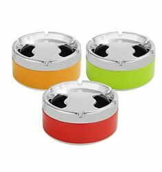 3pc Assorted Colors Wincin Round Sealed Ashtray, Household Cigar And Cigarette