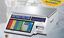 Cas Cl-5500 Series Label Printing Scale 60lb Ethernet Built In Legal For Trade