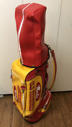 Rare Belding Sports Red Yellow Merita Old Fashioned Golf Bag With Headcover