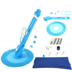 Swimming Pool Cleaner Automatic Vacuum Hose Climb Wall Inground Above Ground Set