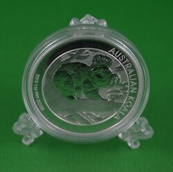 2013 Australian Koala 1 Oz Pure Silver Coin - In Airtight With Display Stand