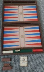 Antique Vintage Wooden Ford Trucks Backgammon Board 27x17 Inch Completerare