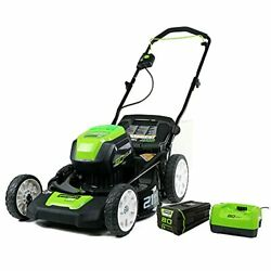 Greenworks Pro 80v 21 Inch Cordless Push Lawn Mower Includes 4ah Battery And ...