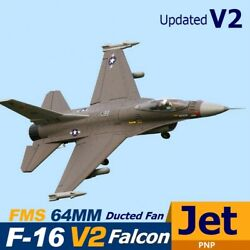 Fms Rc Airplane 64mm F16 V2 Vigilantes Ducted Fan Edf Jet Fighter Plane Aircraft